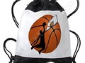* Slam Dunk #Basketball Player w/Hoop on Ball Drawstring Backpack by #Gravityx9 at Cafepr…