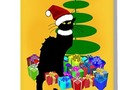** ' Christmas Le Chat Noir With Santa Hat' Greeting Card by Gravityx9 * #SpoofingTheArts * Le Chat Noir is ready f…