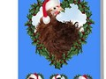 **'Christmas Chicken * Frizzle Chick' Greeting Card by Gravityx9 * A little Christmas chicken, a Frizzle Chicken, w…