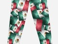 "📷 "" Grunge-Style Mexican Flag "" Leggings by Gravityx9 