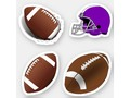 * * Footballs and Football Helmet Sticker | * Fun variety of football themed designs. * Stickers are available in…