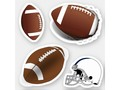 * Footballs and Football Helmet Sticker | * Fun variety of football themed designs. * Stickers are available in sev…