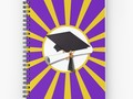 * 'Purple and Gold School Colors Graduation ' Spiral Notebook by Gravityx9 * Available in a…