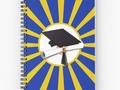 * 'Blue and Gold School Colors Graduation ' Spiral Notebook by Gravityx9 * Available in a…