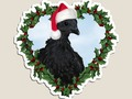 📷 * Christmas Chick * Svart Hona Chicken Holiday Die-Cut Magnet by #Gravityx9 at Redbubble…