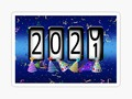 📷 * 2021 New Years Odometer Party Hats Stickers / Reusable Wall Decals by #Gravityx9 at Red…