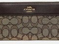 Check out NEW COACH ACCORDION ZIP WALLET IN SIGNATURE JACQUARD WITH STRIPE F76638 #Coach via eBay