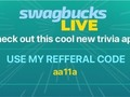 Check-out Swagbucks LIVE, a #trivia app that I play for a chance to win a big #cash prize. Get the app & sign-up to…