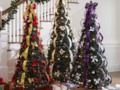 HAPPY LIVING: Beautiful And Colourful Pop-Up Christmas Trees