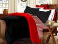 HAPPY LIVING: RED AND BLACK BEDDINGS