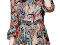 HAPPY LIVING: NEW ARRIVAL FLORAL DRESS FLOUNCING TOP BLOUSES AND...