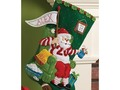 HAPPY LIVING: CHRISTMAS STOCKING FELT APPLIQUE KIT, THE ULTIMATE...