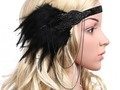Check out BABEYOND Women's Black Feather Headband 1920s Headpiece Vintage Hair Accessories via eBay