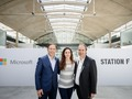 StartUps: Microsoft launches a new AI startup program at Station F in Paris
