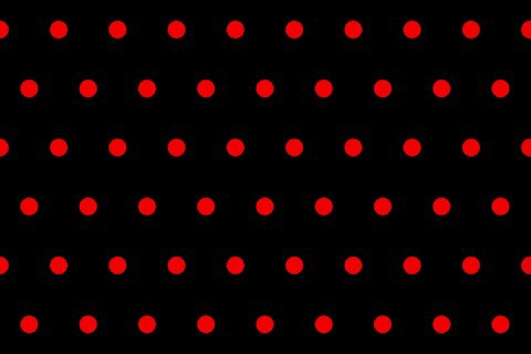 Red Dot Black Background Tiny Red Polka Dots on Black