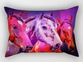 Three Horses Rectangular Pillow