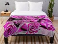 'Romantic Roses' Throw Blanket by mimulux