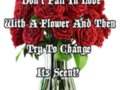 Don't Fall In Love With A Flower And Then Try To Change Its Scent!
