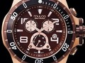 MULCO WATCHES CASE ROSEGOLD SILICON STRAPBAND BROWN CHRONOMETER #watches #collection #mulco