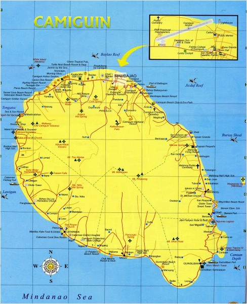 Camiguin Island: Map Of The Camiguin Island, Philippines
