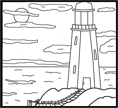 Lighthouse Coloring Page Miakenasnet