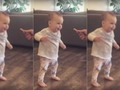 French fry motivates toddler to takes her first steps