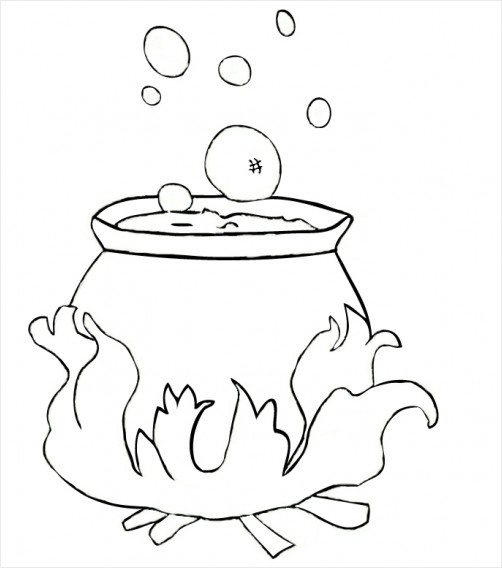 Free Room On The Broom Colouring Sheets