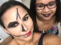 Esqueletua halloween 😘😘😘makeup by mayosther 👏👏