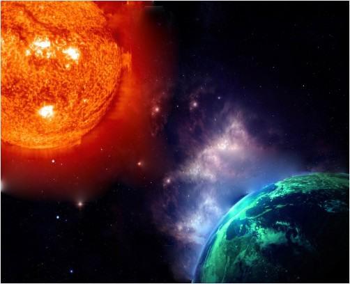 sun vs earth | RedGage