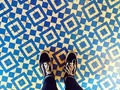 I like where we are Here . . . #shoes #pattern #floor #color #tile #art #losangeles #california