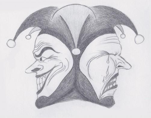 joker face drawing redgage