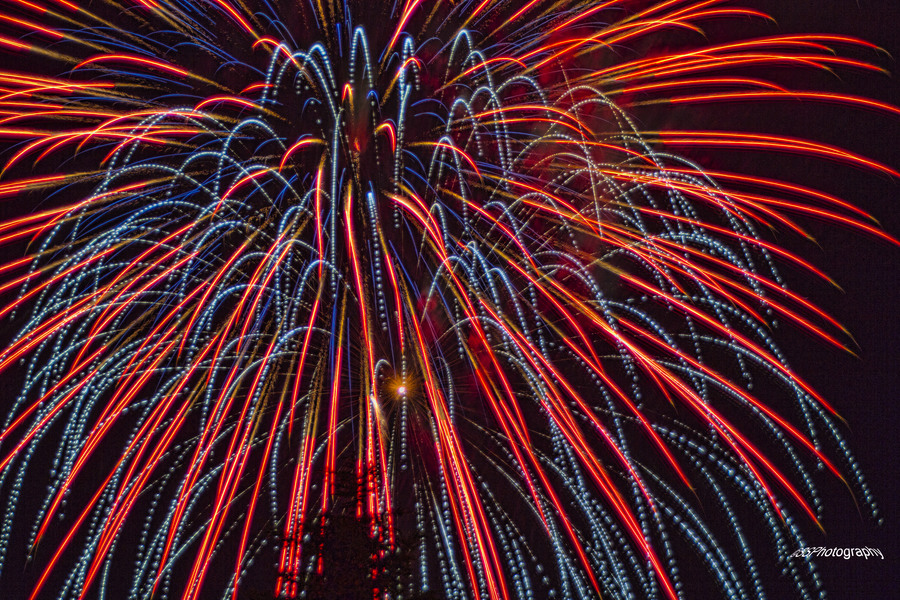 Red Explosion Red White And Blue Explosion