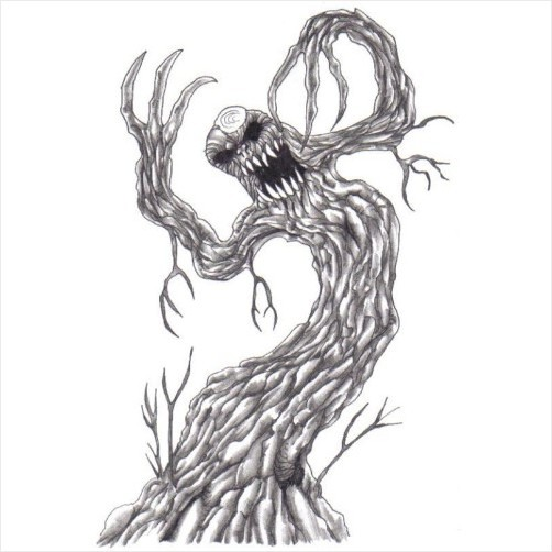 Gallery For gt Evil Creature Drawings